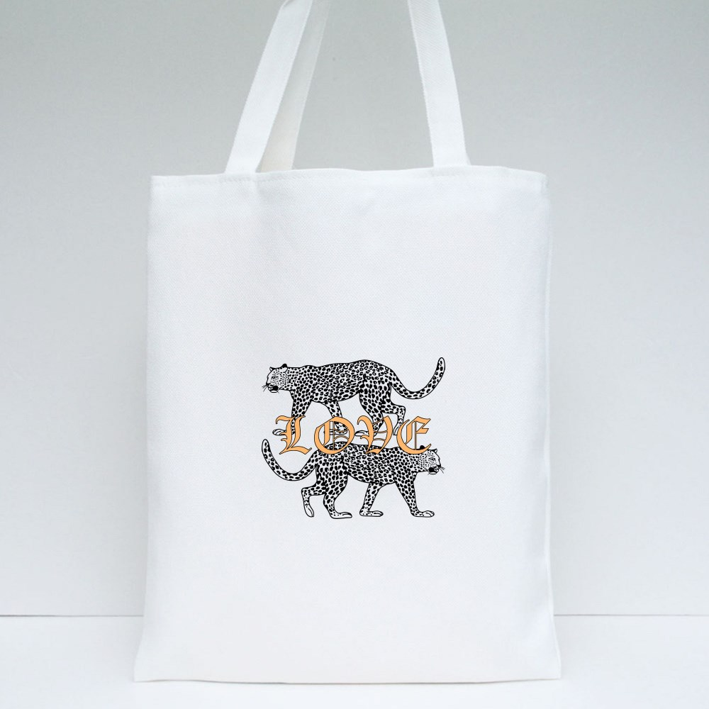 Two Leopard With Love Tote Bags