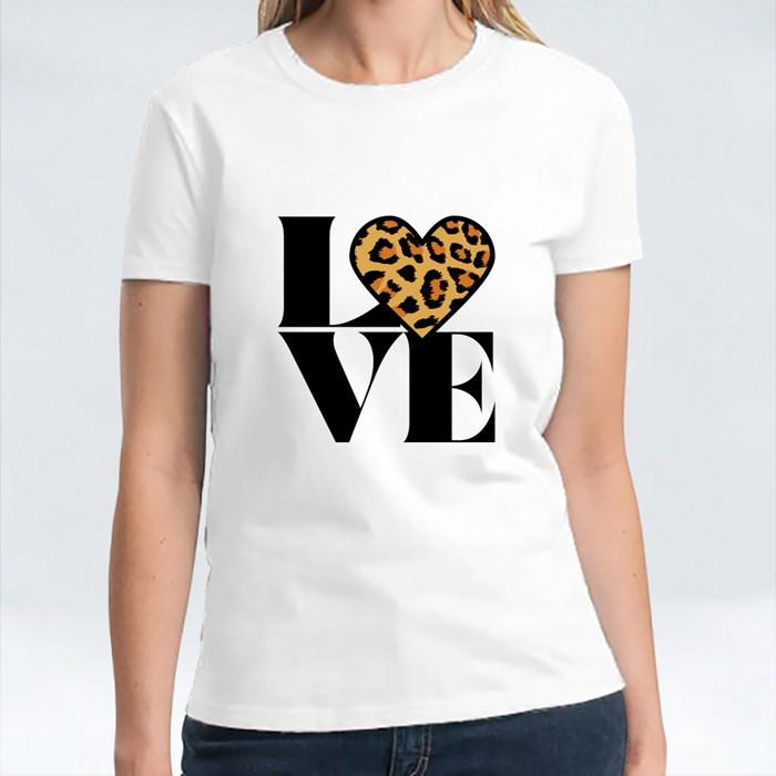 Love With Leopard Heart 短袖T恤