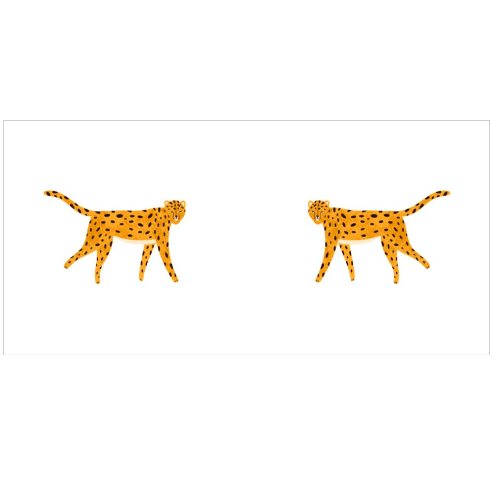 Cute Hand Drawn Leopard Colour Mugs