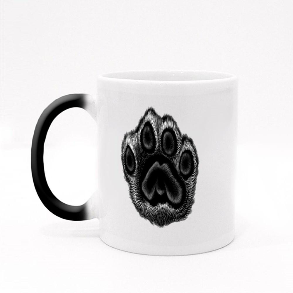 Leopard Black and White Paw Magic Mugs