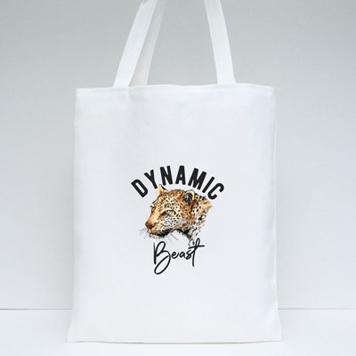The Leopard a Dynamic Beast Tote Bags