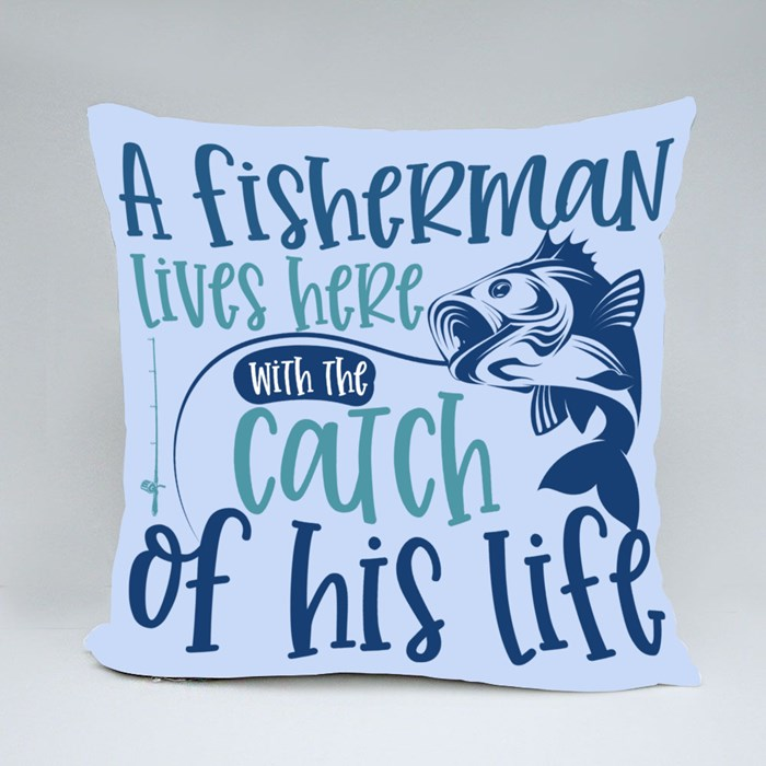 Fishing Quote/Saying   Gift for Fishing Lover and Dad Throw Pillows