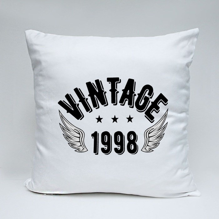 Vintage 1998 B Throw Pillows