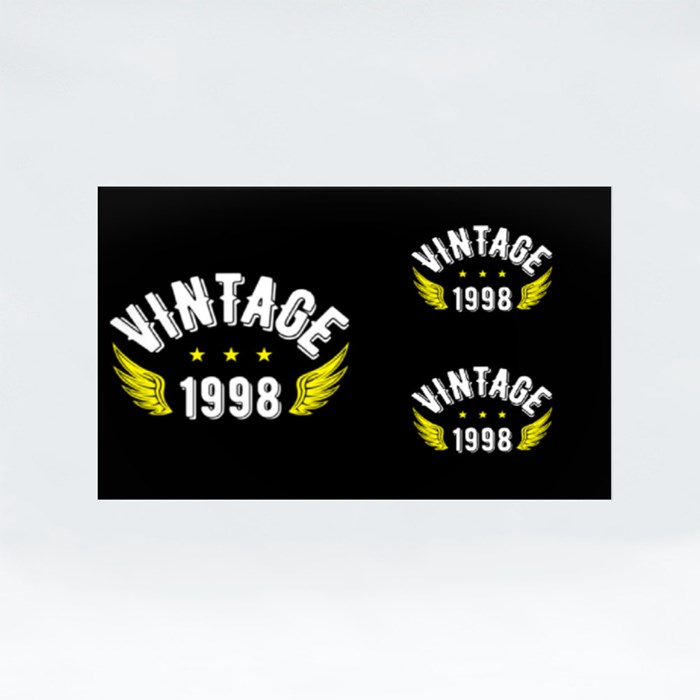 Vintage 1998 Stickers (Rectangle)