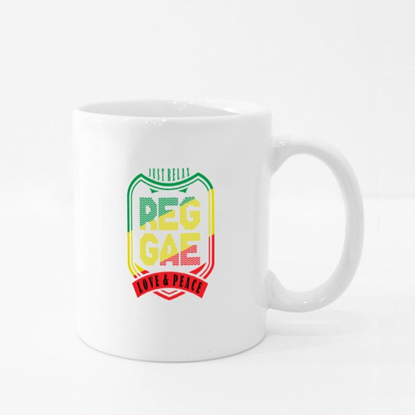 Reggae Love and Peace Colour Mugs