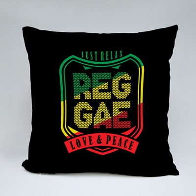 Reggae Love and Peace Throw Pillows