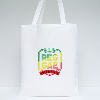 Reggae Love and Peace Tote Bags