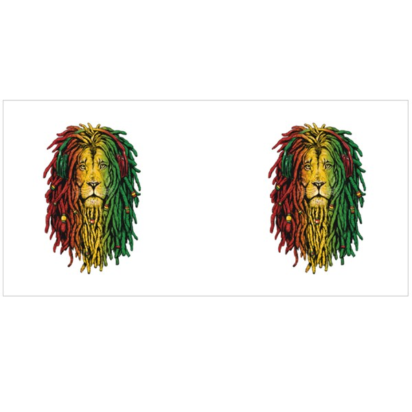 Rastafarian Reggae Lion Colour Mugs