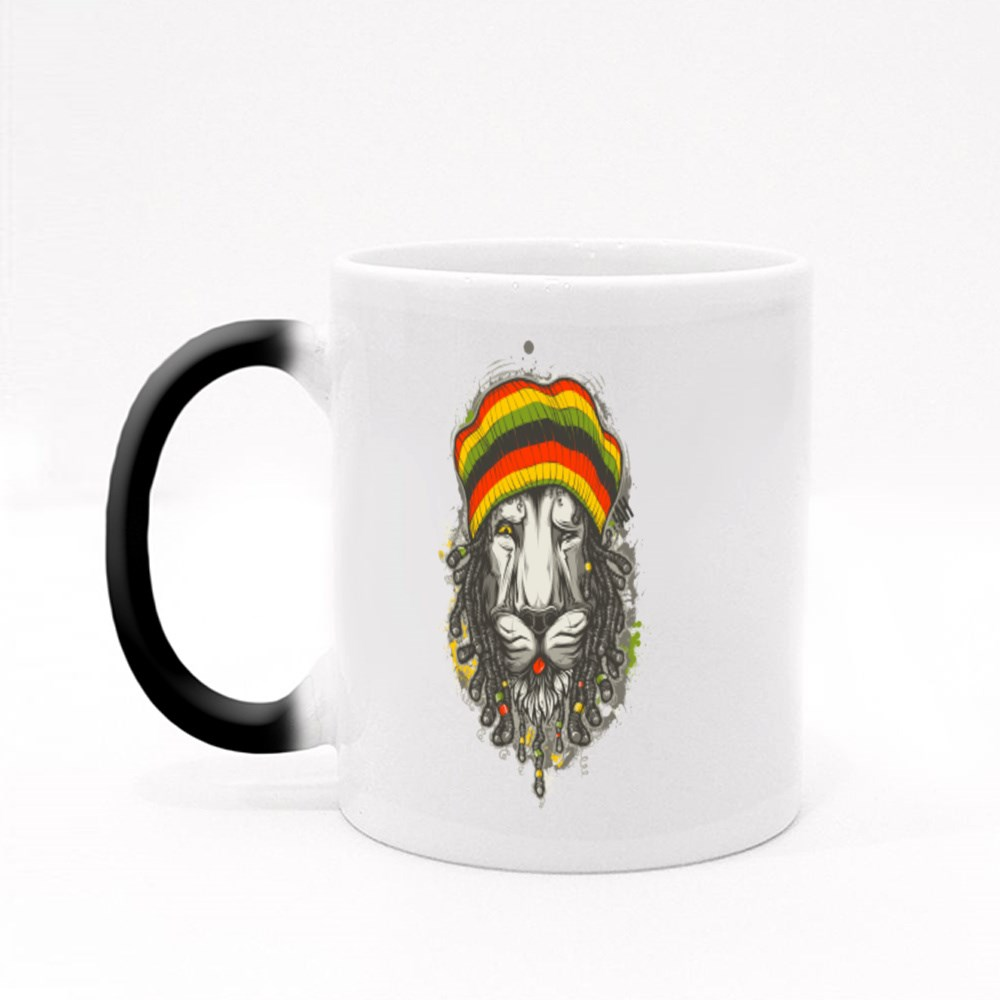 Rastafarian Lion Magic Mugs