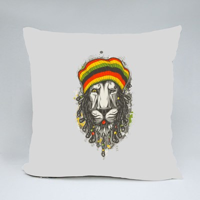Rastafarian Lion Throw Pillows