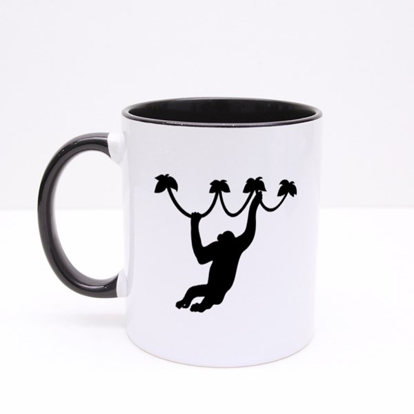 Monkey Silhouette Colour Mugs