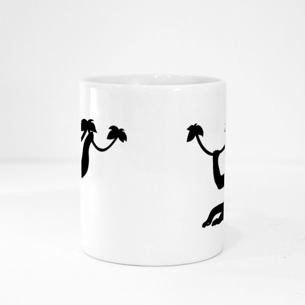 Monkey Silhouette Magic Mugs
