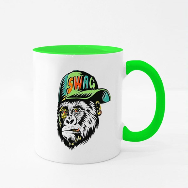 Wag Monkey With Cap Colour Mugs