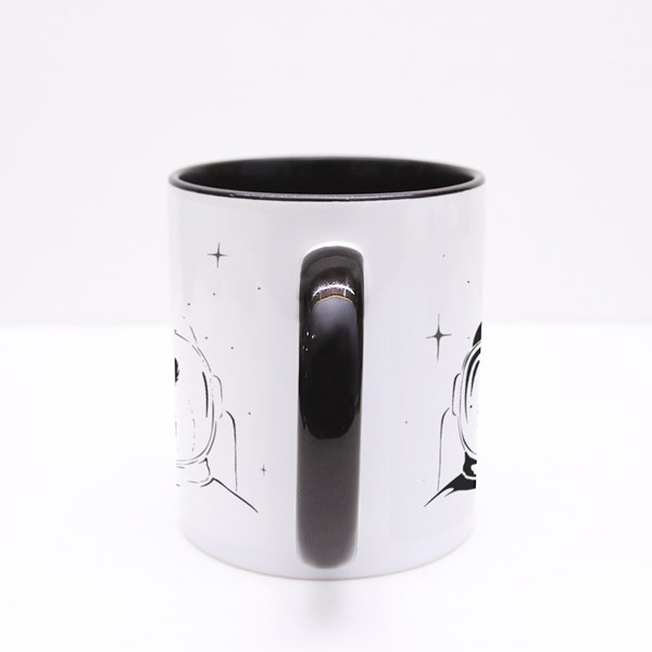 Monkey Astronaut in Space Colour Mugs