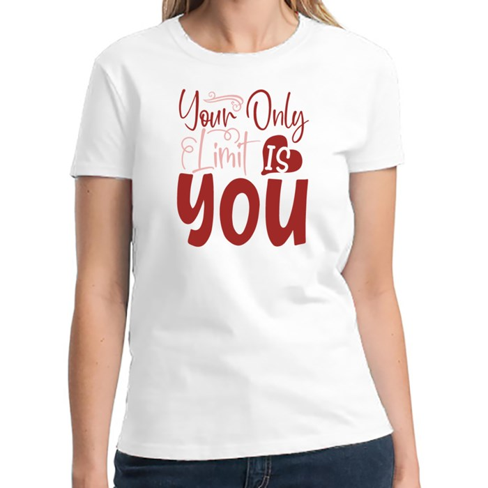 Inspirational / Motivational Quotes | Your Only Limit Is You T-Shirts (Front & Back)