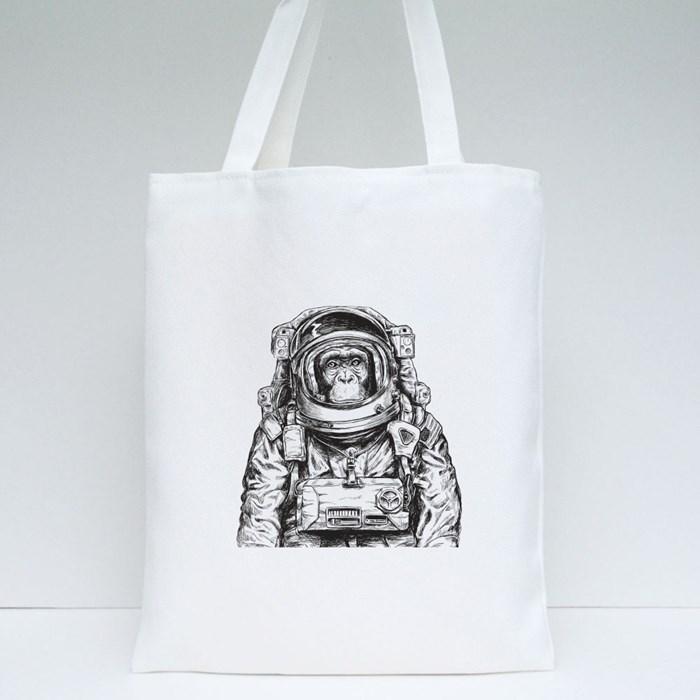 Hand Drawn Monkey Tote Bags