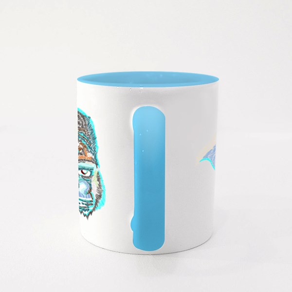 Embroidery Gorilla Colour Mugs