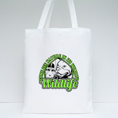 Wildlife Dog and Monkey Tote Bags