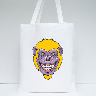 Cool Monkey Smile Tote Bags