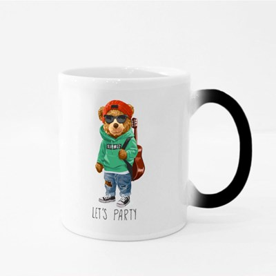Cool Teddy Bear Let's Party Magic Mugs
