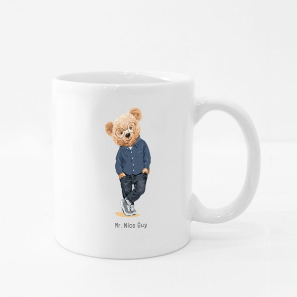 Teddy Bear a Mr Nice Guy Colour Mugs