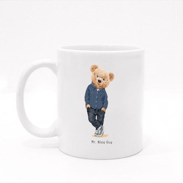 Teddy Bear a Mr Nice Guy Colour Mugs