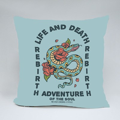 Life and Death Adventure Throw Pillows