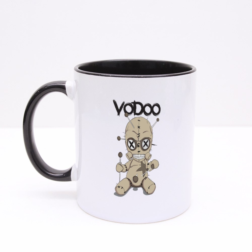 Toy Vodoo Doll Stabbed Colour Mugs
