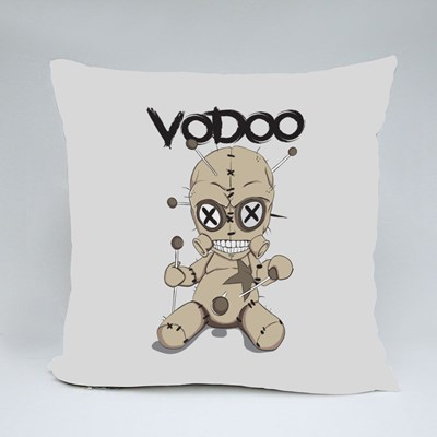 Toy Vodoo Doll Stabbed Throw Pillows