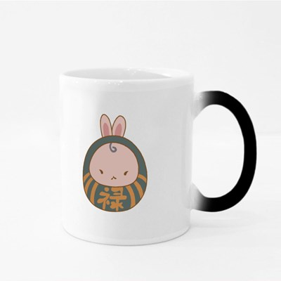 Cute Daruma Bunny Magic Mugs