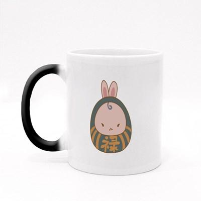Cute Daruma Bunny Magic Mugs