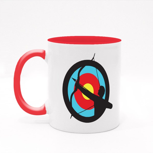 Target Image With a Silhouette Colour Mugs