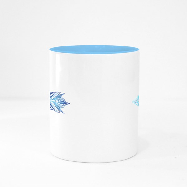 Arrow With a Feather Colour Mugs