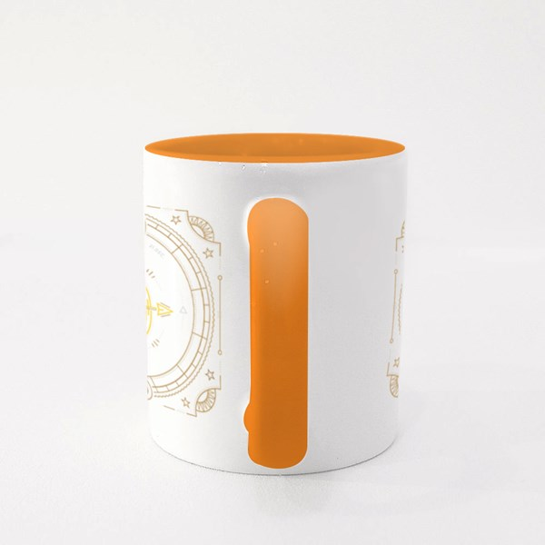 Vintage Thin Line Sagittarius Colour Mugs