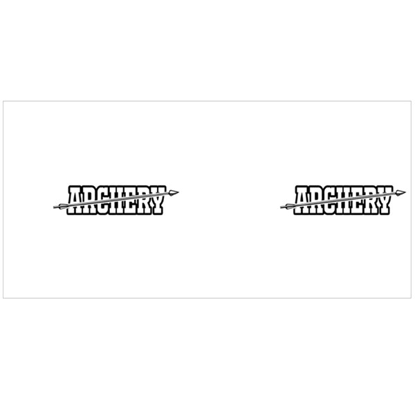 Archery Text Font Motion Colour Mugs