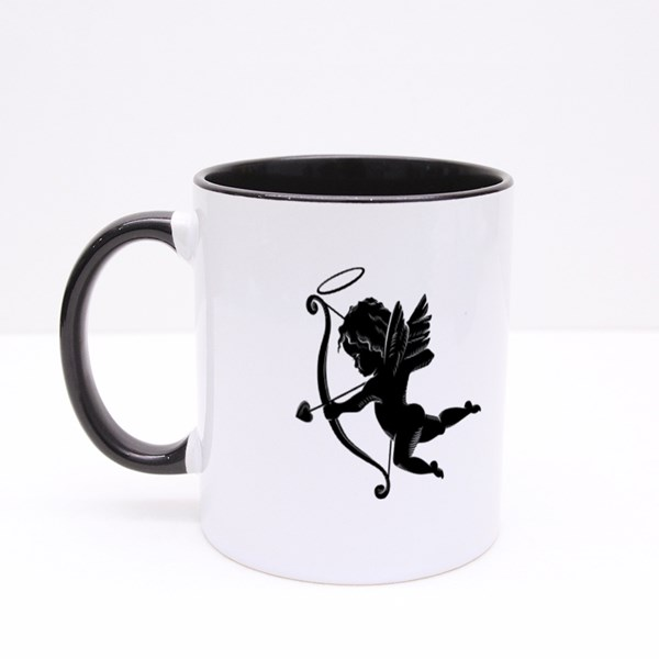 Silhouette of an Angel Colour Mugs