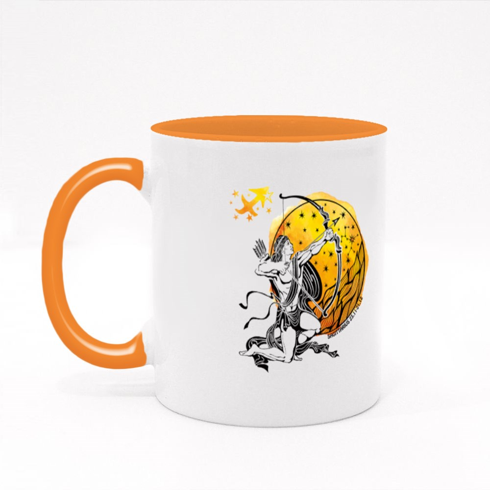 Sagittarius Zodiac Sign Colour Mugs