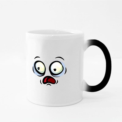 Crazy Shocked Face Magic Mugs