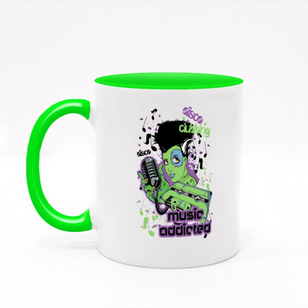 Music Addicted  Colour Mugs