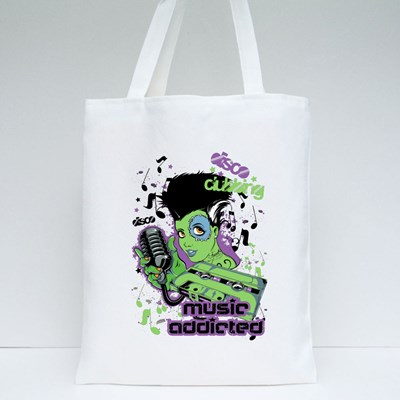 Music Addicted  Tote Bags