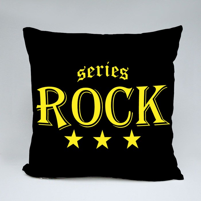Typography Rock Series Throw Pillows