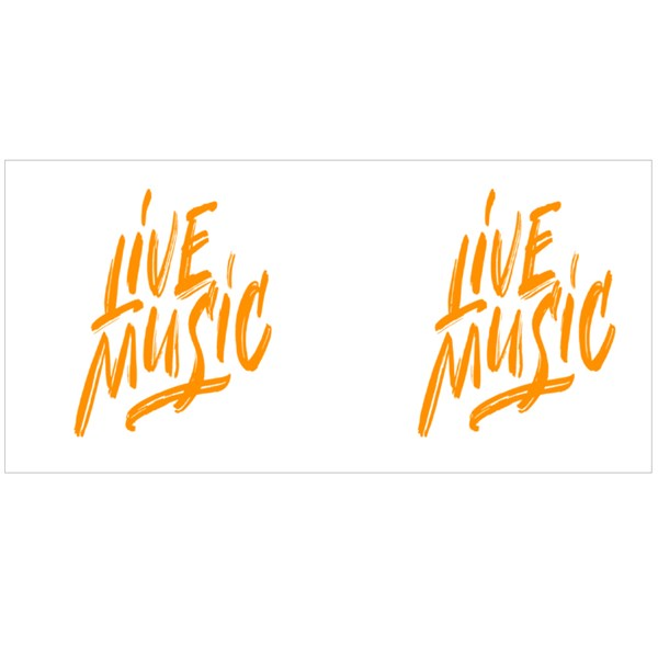 Live Music Sign Colour Mugs