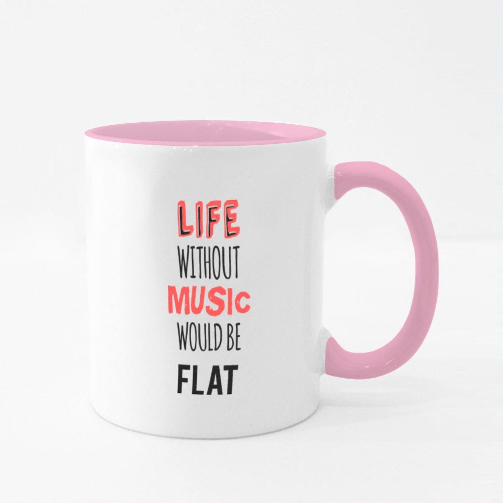 Quote About Music Colour Mugs