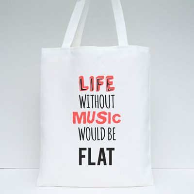 Quote About Music Tote Bags