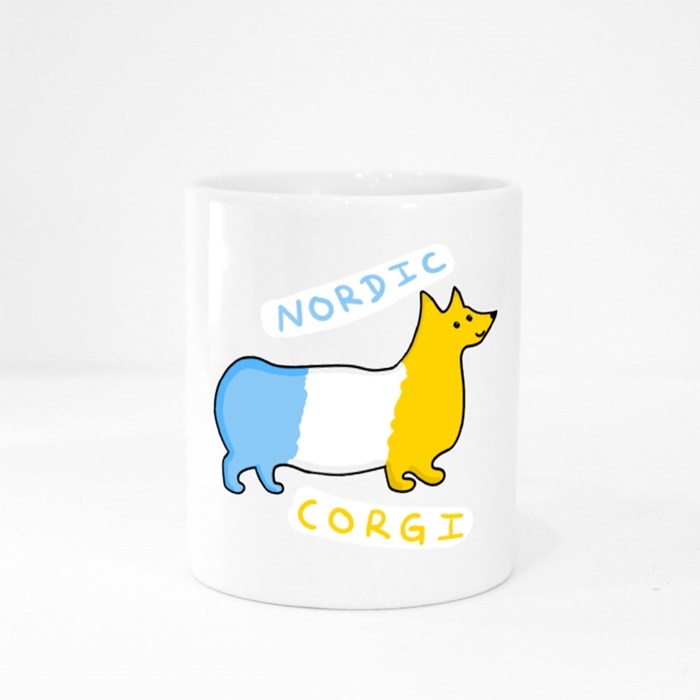 Nordic Corgi Colour Mugs