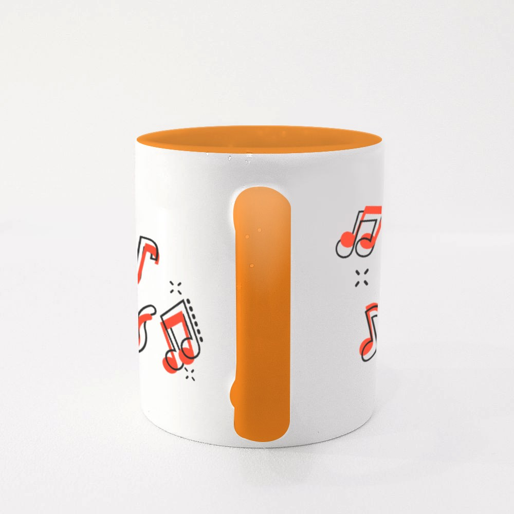 Music Icon in Comic Style Colour Mugs