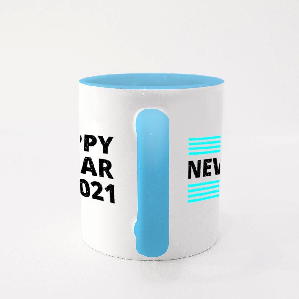 Blue Bar Happy New Year 2021 Colour Mugs
