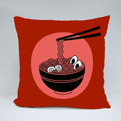 Japanese Traditional Noodle Throw Pillows