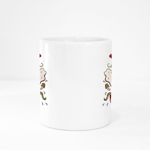 Traditional Ramen Doodle Style Colour Mugs