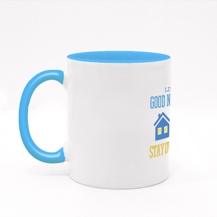 Stay at Home Funny Quote Colour Mugs